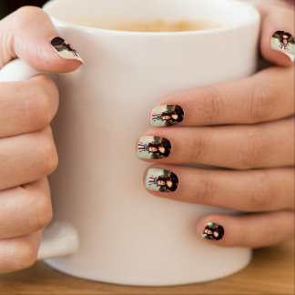 Patriotic Mona Lisa - Ready for Independence Day Minx ® Nail Art