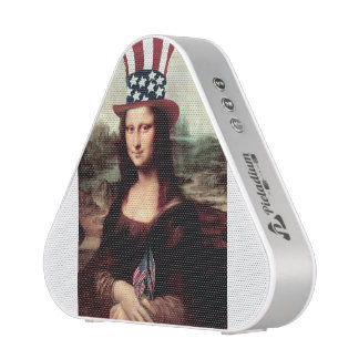 Patriotic Mona Lisa - Ready for Independence Day Speaker