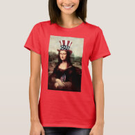 Patriotic Mona Lisa - Ready for Independence Day T-Shirt