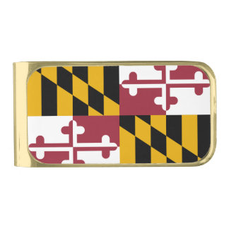 Patriotic Money Clip with flag of Maryland, USA