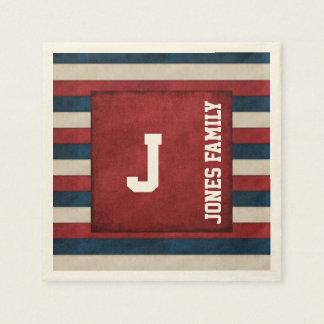Patriotic Monogram Paper Napkins