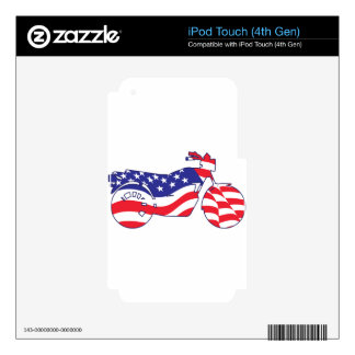 Patriotic Motorcycle Decals For iPod Touch 4G