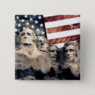 Patriotic Mount Rushmore Button