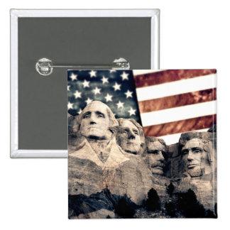 Patriotic Mount Rushmore Button