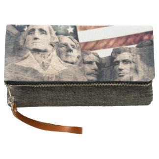 Patriotic Mount Rushmore Clutch