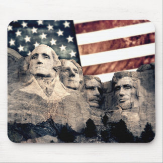 Patriotic Mount Rushmore Mouse Pad