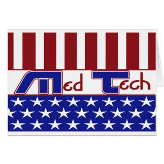 PATRIOTIC MT (MEDICAL TECHNOLOGIST) USA FLAG CARD