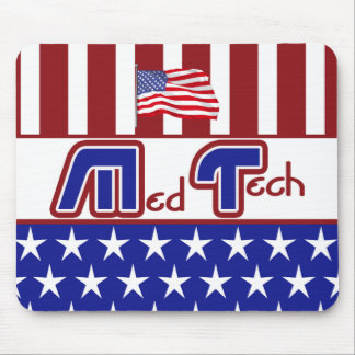 PATRIOTIC MT (MEDICAL TECHNOLOGIST) USA FLAG MOUSE PAD