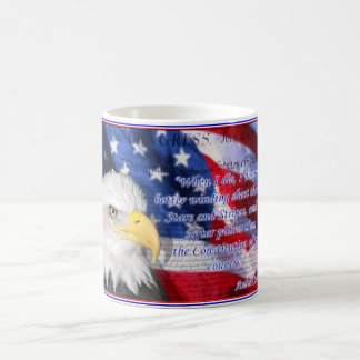 Patriotic mug with quote