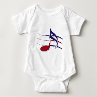 Patriotic Music Note Baby Bodysuit