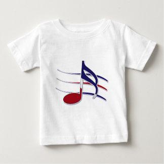 Patriotic Music Note Baby T-Shirt