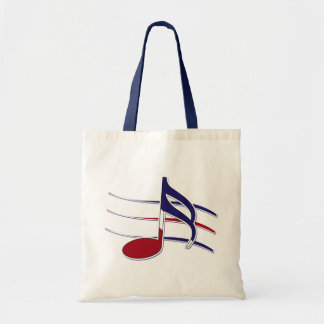Patriotic Music Note Budget Tote Bag