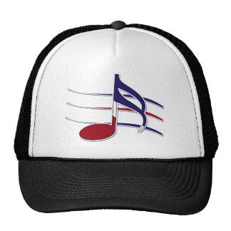 Patriotic Music Note Mesh Hat
