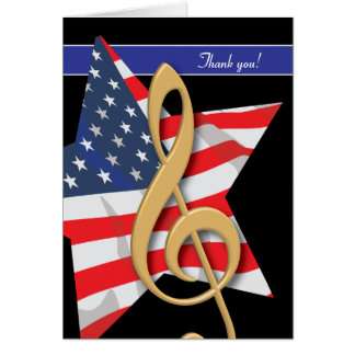 Patriotic Music Thank You Card