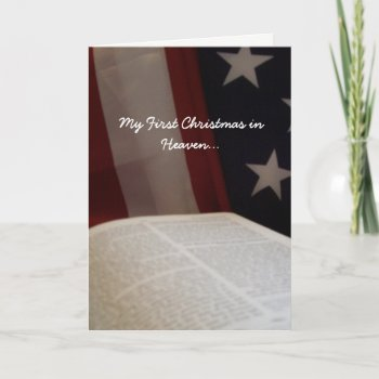 My First Christmas In Heaven.Browse Products At Zazzle With The Theme Patriotic Christmas