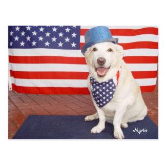 Patriotic Myrtie Postcard