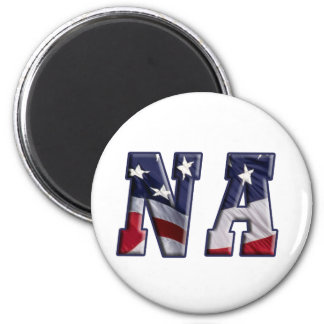 PATRIOTIC NA - PROUD AMERICAN NURSE ASSISTANT 2 INCH ROUND MAGNET