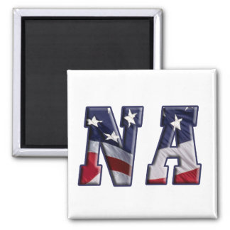 PATRIOTIC NA - PROUD AMERICAN NURSE ASSISTANT 2 INCH SQUARE MAGNET