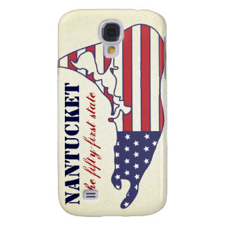 Patriotic Nantucket, the 51st State of America Galaxy S4 Case