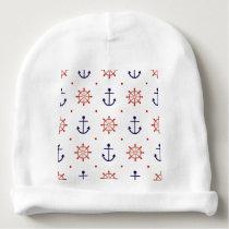 Patriotic Nautical Pattern Baby Beanie