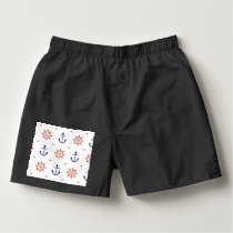 Patriotic Nautical Pattern Boxers