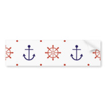 Patriotic Nautical Pattern Bumper Sticker