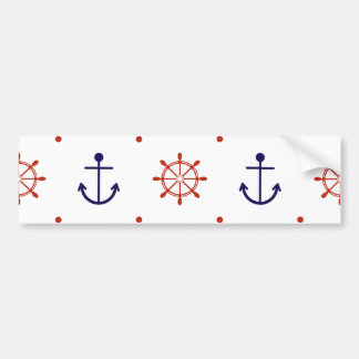 Patriotic Nautical Pattern Bumper Sticker
