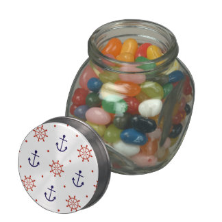 Patriotic Nautical Pattern Jelly Belly Candy Jars