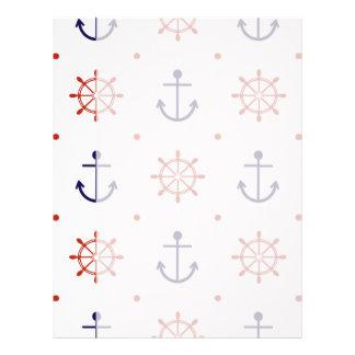 Patriotic Nautical Pattern Letterhead