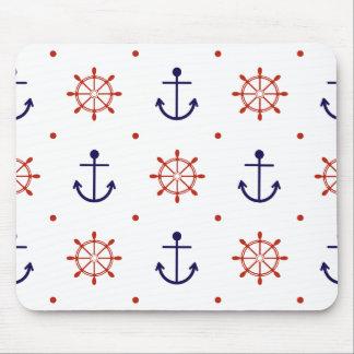 Patriotic Nautical Pattern Mouse Pad