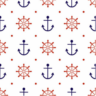Patriotic Nautical Pattern Statuette