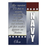 Patriotic Navy Troop Support Card - Son