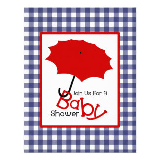 Patriotic Neutral Baby Shower - Red White Blue Custom Announcement