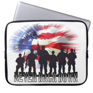 Patriotic Never Back Down Computer Sleeve