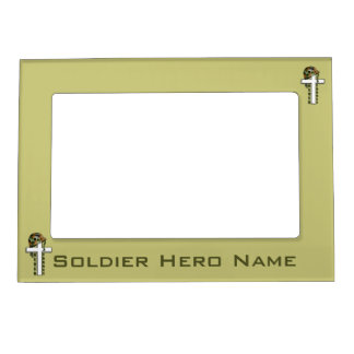 Patriotic Never Forget Military Soldiers Magnetic  Magnetic Photo Frame
