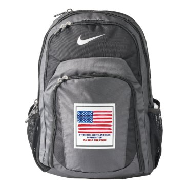 USA Themed Patriotic Nike Backpack If American Flag Offends