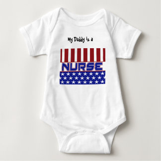 PATRIOTIC NURSE USA FLAG BABY BODYSUIT