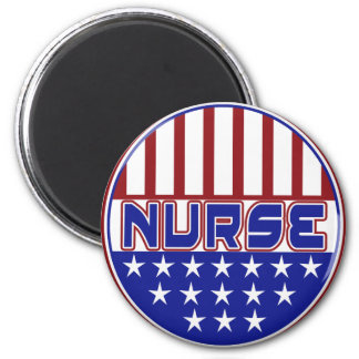 PATRIOTIC NURSE USA FLAG MAGNET