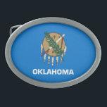 "Patriotic Oklahoma State Flag Belt Buckle<br><div class=""desc"">Patriotic Oklahoma state flag.</div>"