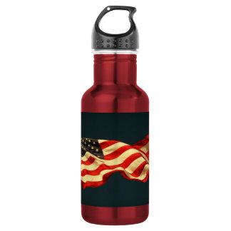 Patriotic Old Glory Stainless Steel Water Bottle