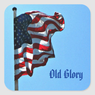 Patriotic Old Glory Stickers - American Flag
