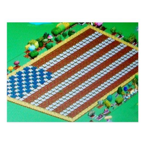 Patriotic Online Farm Crop US Flag Post Cards