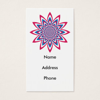 Patriotic Op Art Flower Business Card