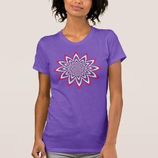 Patriotic Op Art Flower T Shirt