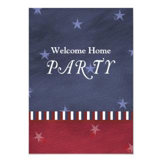 "Patriotic or Military Party Invitation 5"" X 7"" Invitation Card"