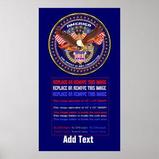 """Patriotic or Veteran 20""""x36"""" Poster"""
