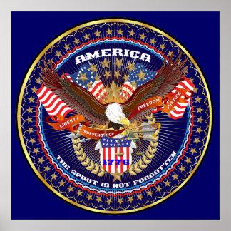 """Patriotic or Veteran 36""""X36"""" Poster"""