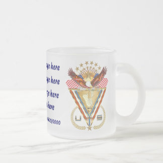 Patriotic or Veteran add PhotoView Artist Comments Frosted Glass Coffee Mug