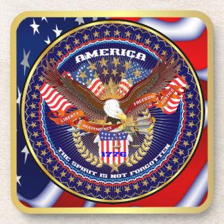 Patriotic or Veteran Drink Coaster
