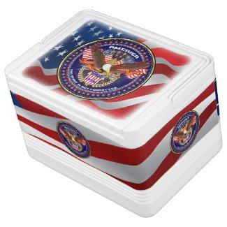 Patriotic or Veteran Igloo 12 Can Cooler